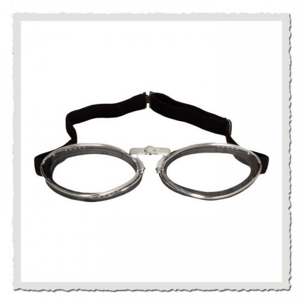 Aviator Goggle 4600 schwarz Gummi chrom