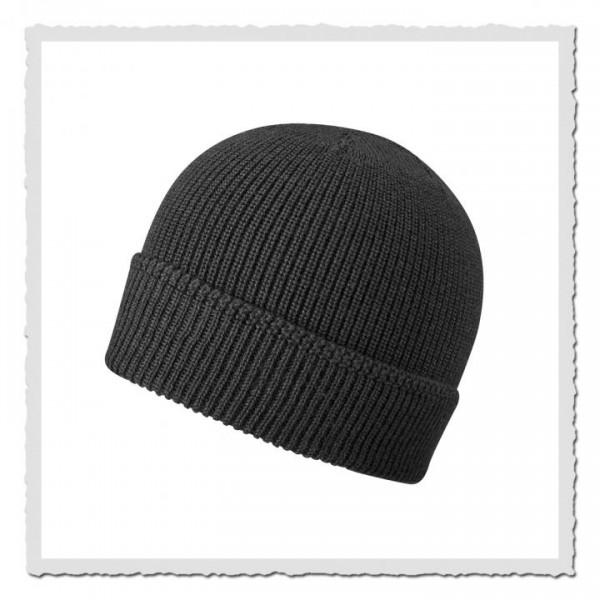 Beanie Merino Wool schwarz