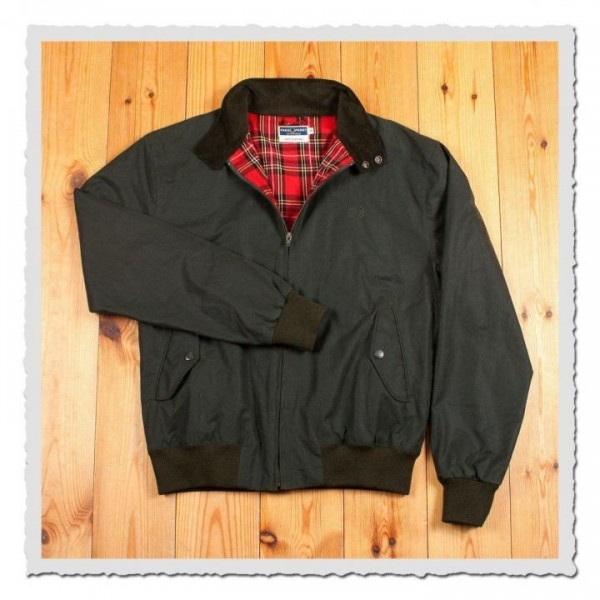 Harrington Jacket waxed cotton green