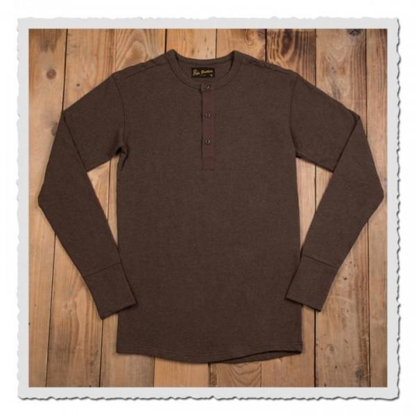 1954 Utility Shirt Long Sleeve brown melange