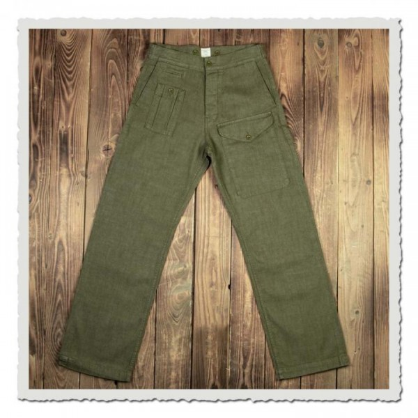 1952 Pattern Trousers olive selvage