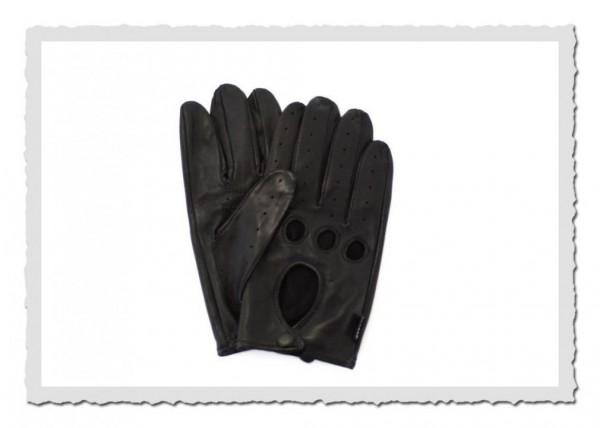 Herren Autofahrer Handschuh Black