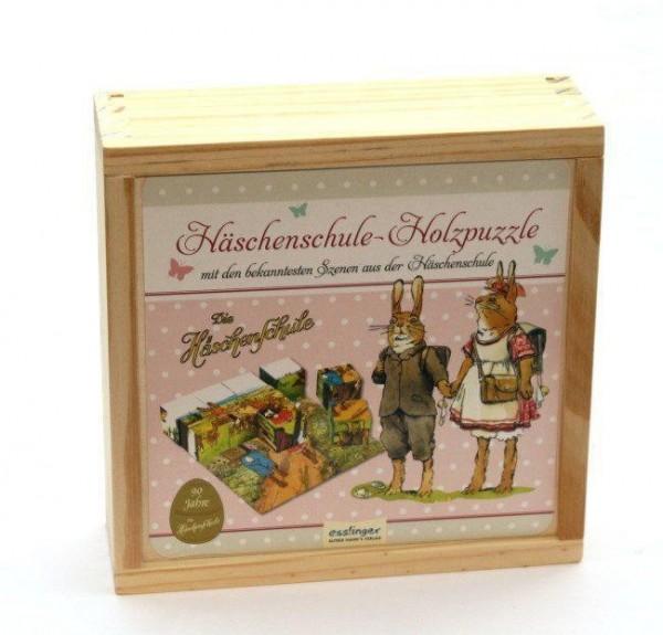 Häschenschule Holzpuzzle
