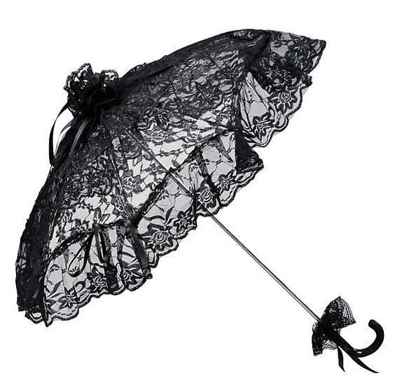 Spitzenschirm 'Josephine', schwarz