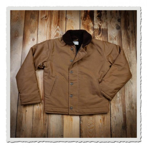 N-1 Deck Jacket waxed Khaki