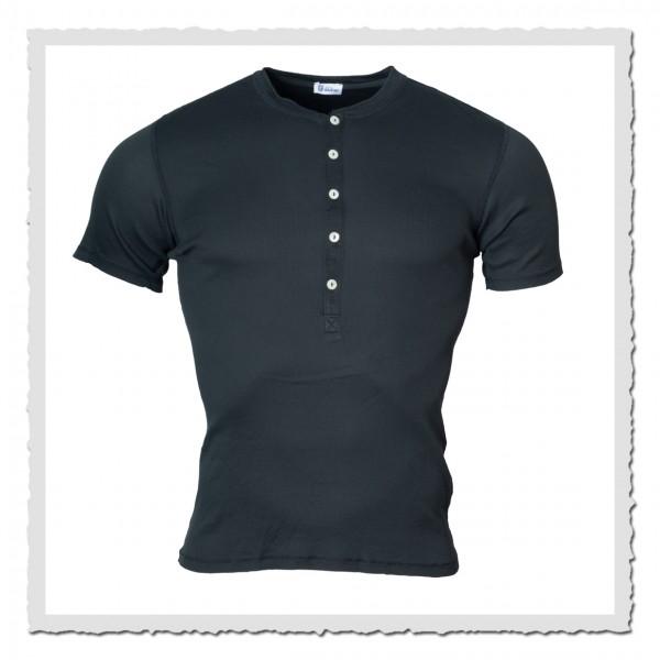 schiesser revival heinrich halbarm shirt blau schwarz 1295550 001