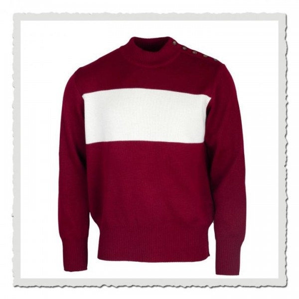 Pullover bordeaux offwhite