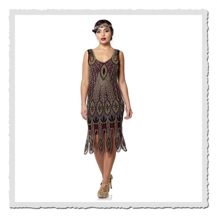 5e20de8fdaa0b7 Flapper Dress Molly Plum   FlapperDresses   Kleider ...