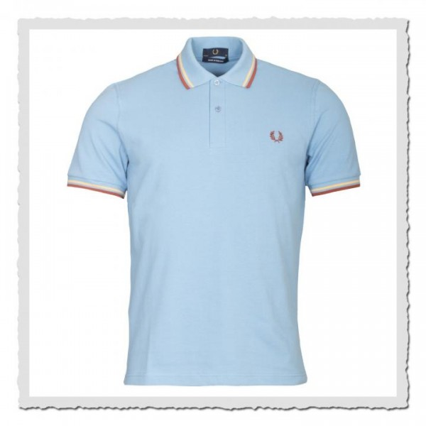 Polo Shirt Twin Tipped Sky
