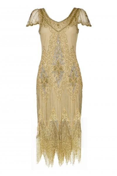 Flapper Dress Annette Gold