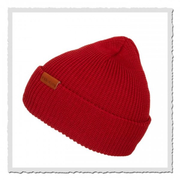 Beanie Merino Wool 97493 red