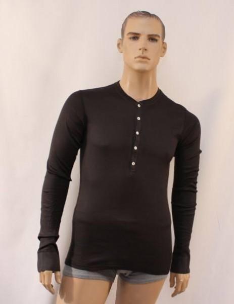 Heinrich 1/1 Arm-Shirt dunkelbraun
