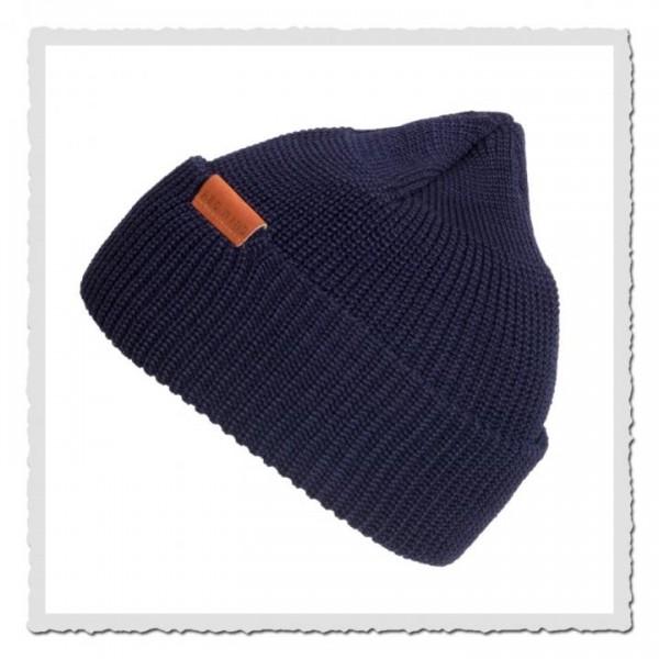 Beanie Merino Wool 97490 navy