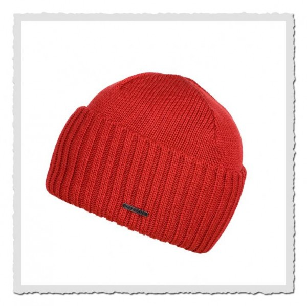 Beanie Merino Wool red